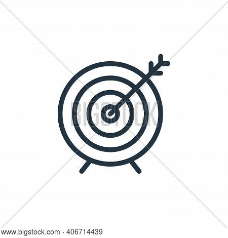 target icon isolated on white background from miscellaneous collection. target icon thin line outlin