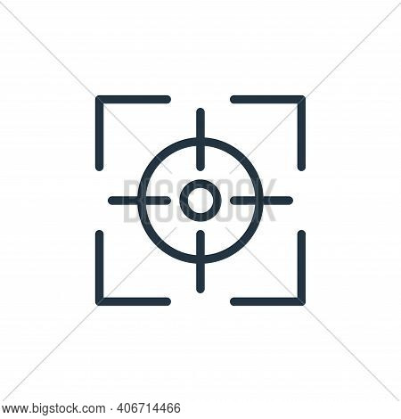 target icon isolated on white background from business collection. target icon thin line outline lin