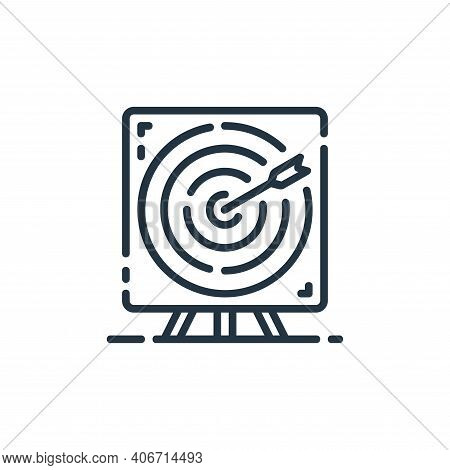 target icon isolated on white background from startup collection. target icon thin line outline line