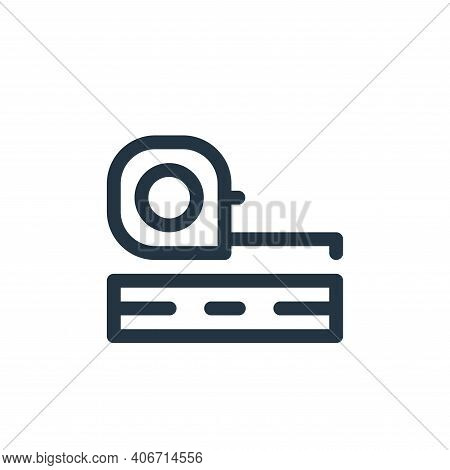tape icon isolated on white background from labour day collection. tape icon thin line outline linea