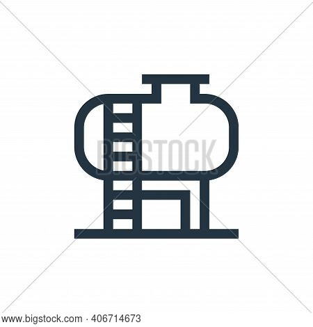 tank icon isolated on white background from industrial process collection. tank icon thin line outli
