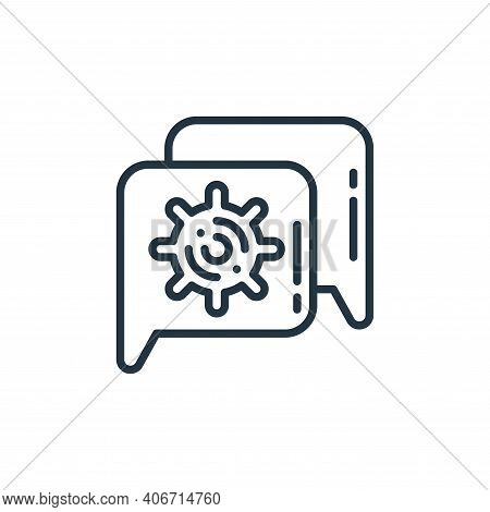 talking icon isolated on white background from virus transmission collection. talking icon thin line