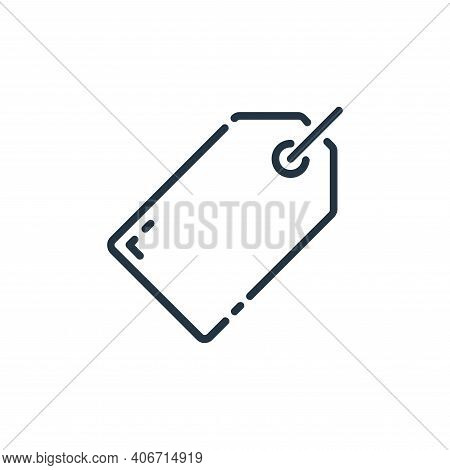 tag icon isolated on white background from user interface collection. tag icon thin line outline lin