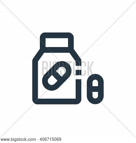 tablet icon isolated on white background from medical kit collection. tablet icon thin line outline