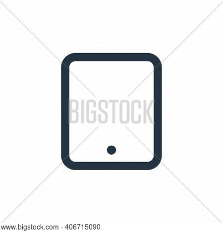 tablet icon isolated on white background from electronic and device collection. tablet icon thin lin