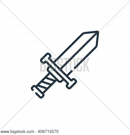 sword icon isolated on white background from children toys collection. sword icon thin line outline