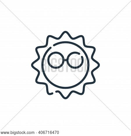 sun icon isolated on white background from hippies collection. sun icon thin line outline linear sun