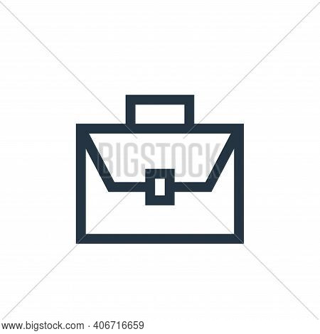 suitcase icon isolated on white background from marketing and growth collection. suitcase icon thin