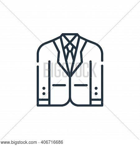 suit icon isolated on white background from fame collection. suit icon thin line outline linear suit