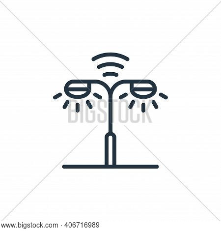 street light icon isolated on white background from internet of things collection. street light icon