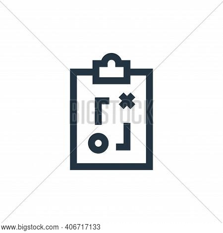strategy icon isolated on white background from soccer collection. strategy icon thin line outline l