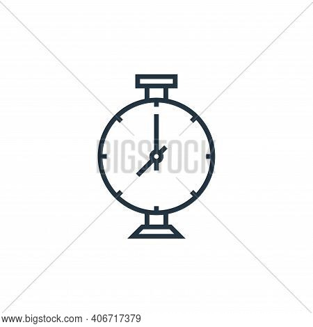 stopwatch icon isolated on white background from school collection. stopwatch icon thin line outline