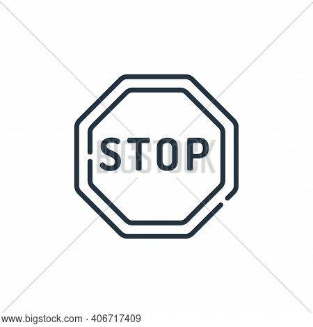 stop icon isolated on white background from signals and prohibitions collection. stop icon thin line