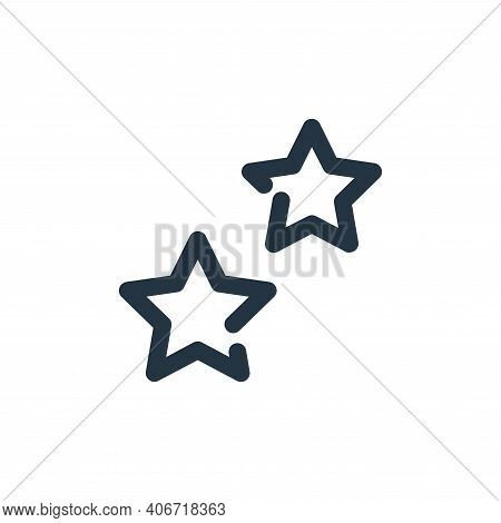 stars icon isolated on white background from weather collection. stars icon thin line outline linear