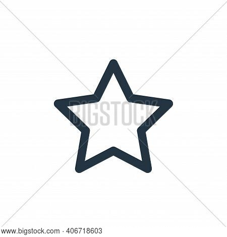 star icon isolated on white background from multimedia collection. star icon thin line outline linea