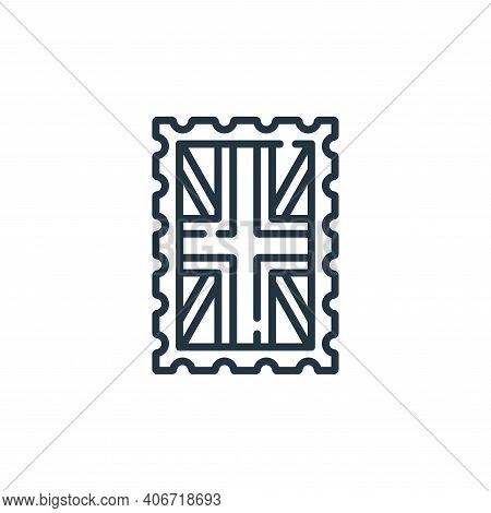 stamp icon isolated on white background from england collection. stamp icon thin line outline linear