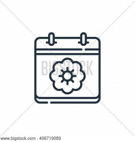 spring icon isolated on white background from calendar and date collection. spring icon thin line ou