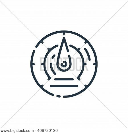 speedometer icon isolated on white background from startup collection. speedometer icon thin line ou