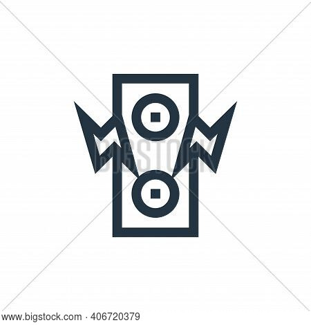 speaker icon isolated on white background from rock and roll collection. speaker icon thin line outl