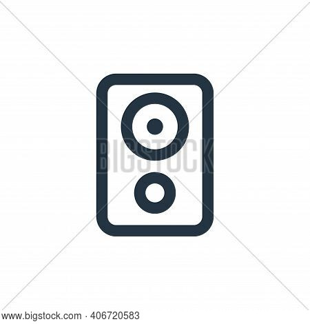 speaker icon isolated on white background from electronic and device collection. speaker icon thin l