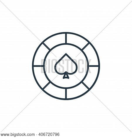 spade icon isolated on white background from casino collection. spade icon thin line outline linear