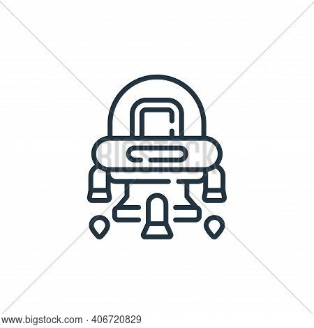 spaceship icon isolated on white background from robotics collection. spaceship icon thin line outli