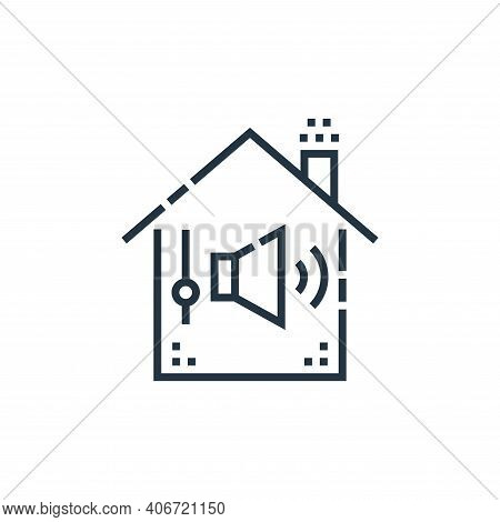sound control icon isolated on white background from smarthome collection. sound control icon thin l