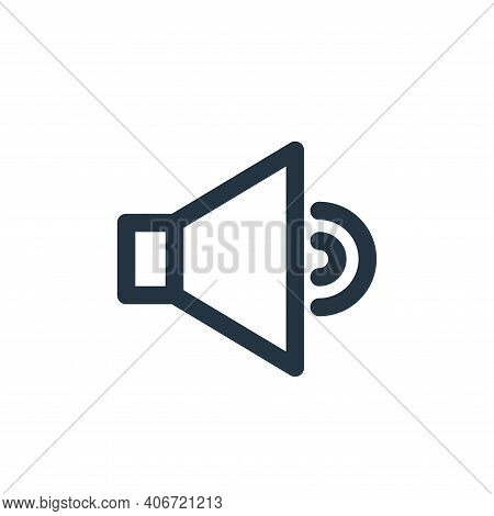 sound icon isolated on white background from multimedia collection. sound icon thin line outline lin