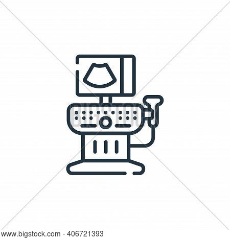 sonography icon isolated on white background from maternity collection. sonography icon thin line ou
