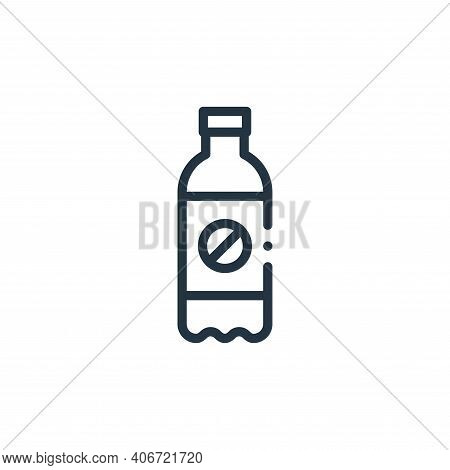 soda bottle icon isolated on white background from plastic products collection. soda bottle icon thi
