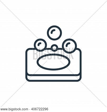 soap icon isolated on white background from hygiene collection. soap icon thin line outline linear s