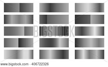 Metallic Silver Or Platinum Gradients Combinations Set