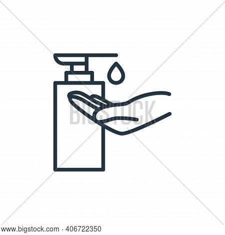soap icon isolated on white background from stop virus collection. soap icon thin line outline linea