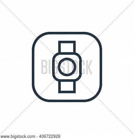 smart watch icon isolated on white background from hardware and gadgets collection. smart watch icon