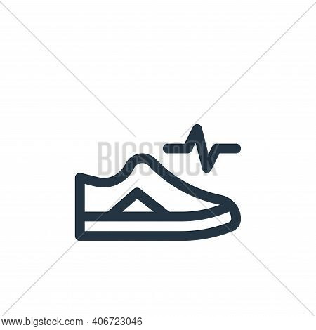 smart shoes icon isolated on white background from technology of the future collection. smart shoes