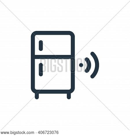 smart refrigerator icon isolated on white background from internet of things collection. smart refri