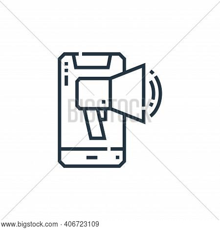 smartphone icon isolated on white background from marketing collection. smartphone icon thin line ou