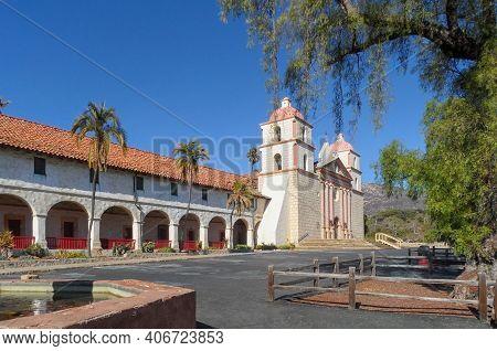 Old Mission Santa Barbara, In Santa Barbara, California