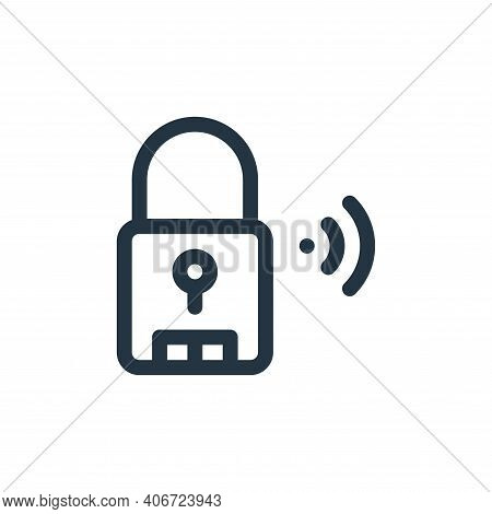 smart lock icon isolated on white background from internet of things collection. smart lock icon thi