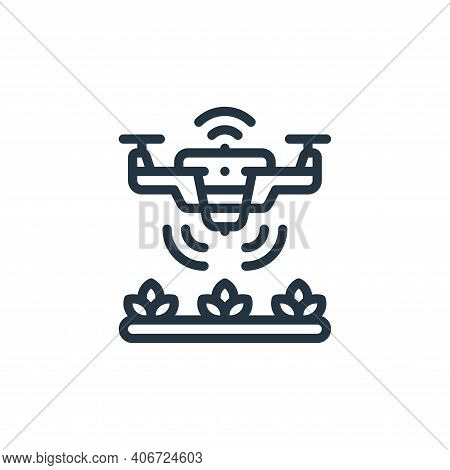 smart drone icon isolated on white background from smart farm collection. smart drone icon thin line