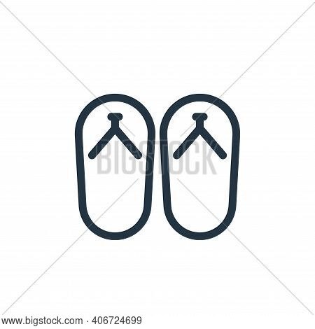 slippers icon isolated on white background from holiday collection. slippers icon thin line outline
