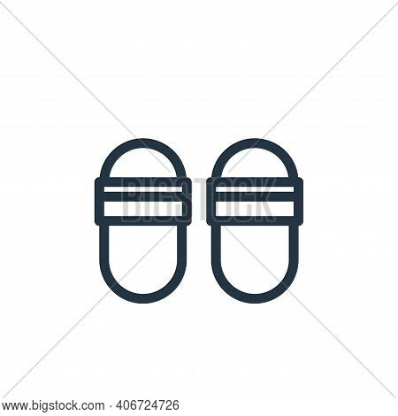 slippers icon isolated on white background from fashion collection. slippers icon thin line outline