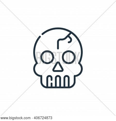 skull icon isolated on white background from desert collection. skull icon thin line outline linear