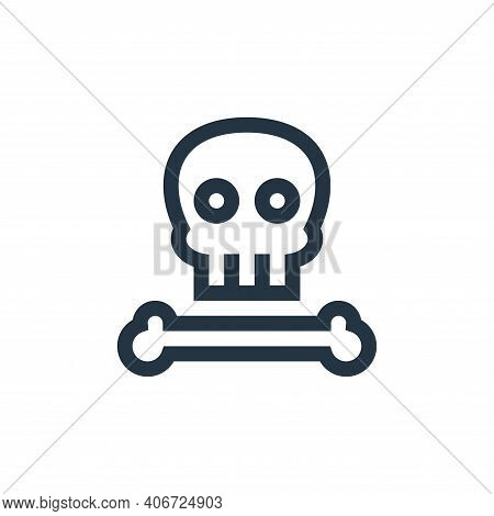 skull icon isolated on white background from history collection. skull icon thin line outline linear