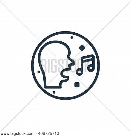 singing icon isolated on white background from music and sound collection. singing icon thin line ou