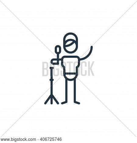 singer icon isolated on white background from general arts collection. singer icon thin line outline