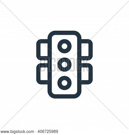 signal icon isolated on white background from web apps seo collection. signal icon thin line outline