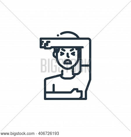 sick icon isolated on white background from virus transmission collection. sick icon thin line outli