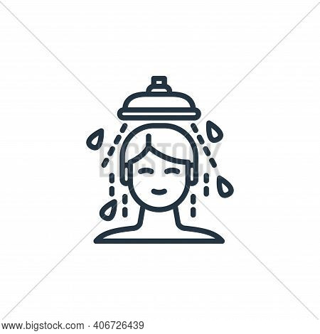 shower icon isolated on white background from virus transmission collection. shower icon thin line o