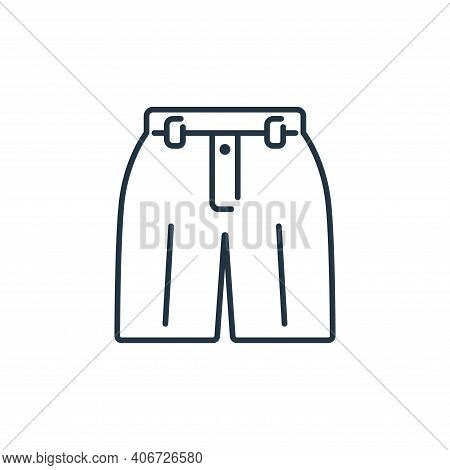 shorts icon isolated on white background from clothes and outfit collection. shorts icon thin line o